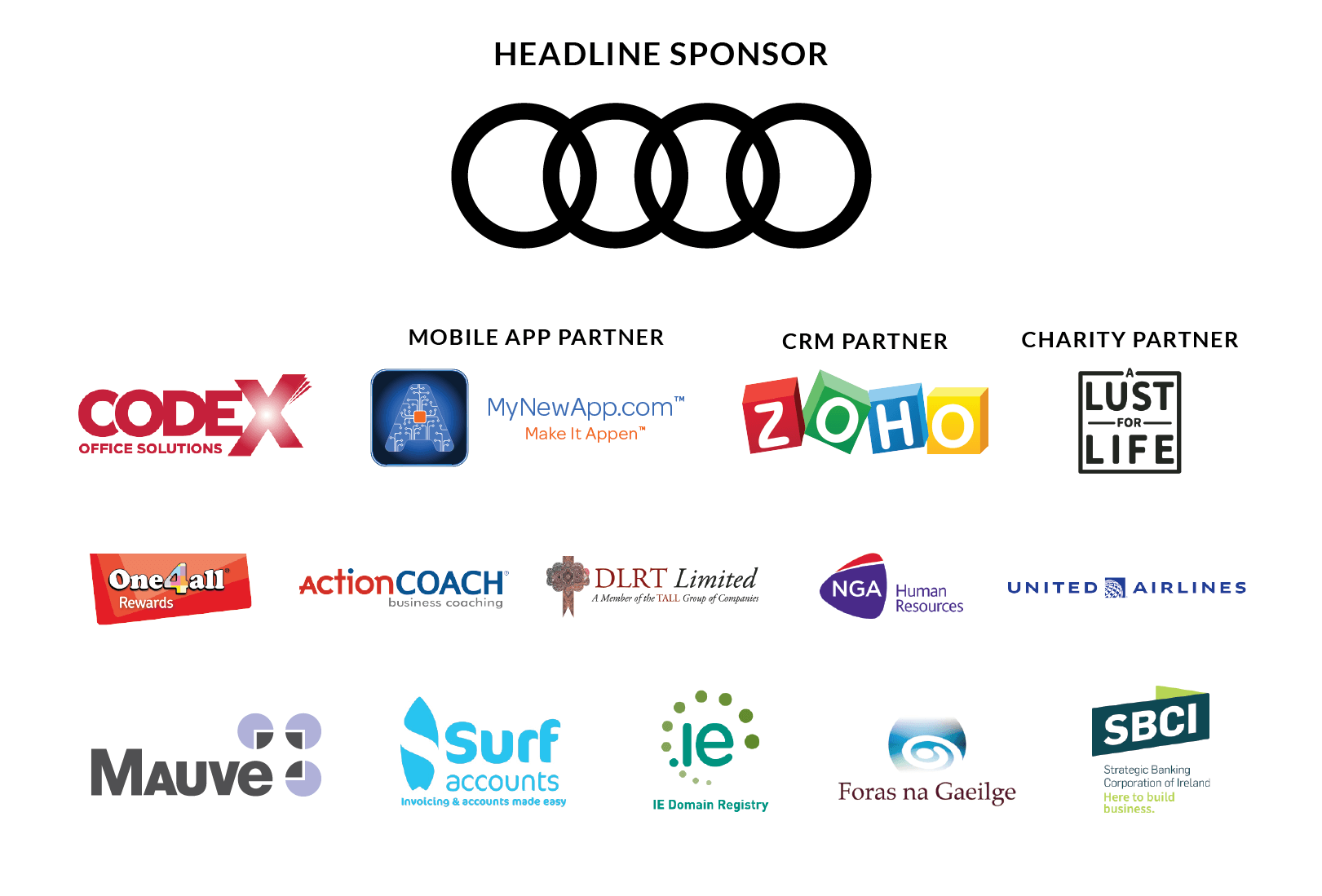 All Ireland Summit 2018 Sponsors