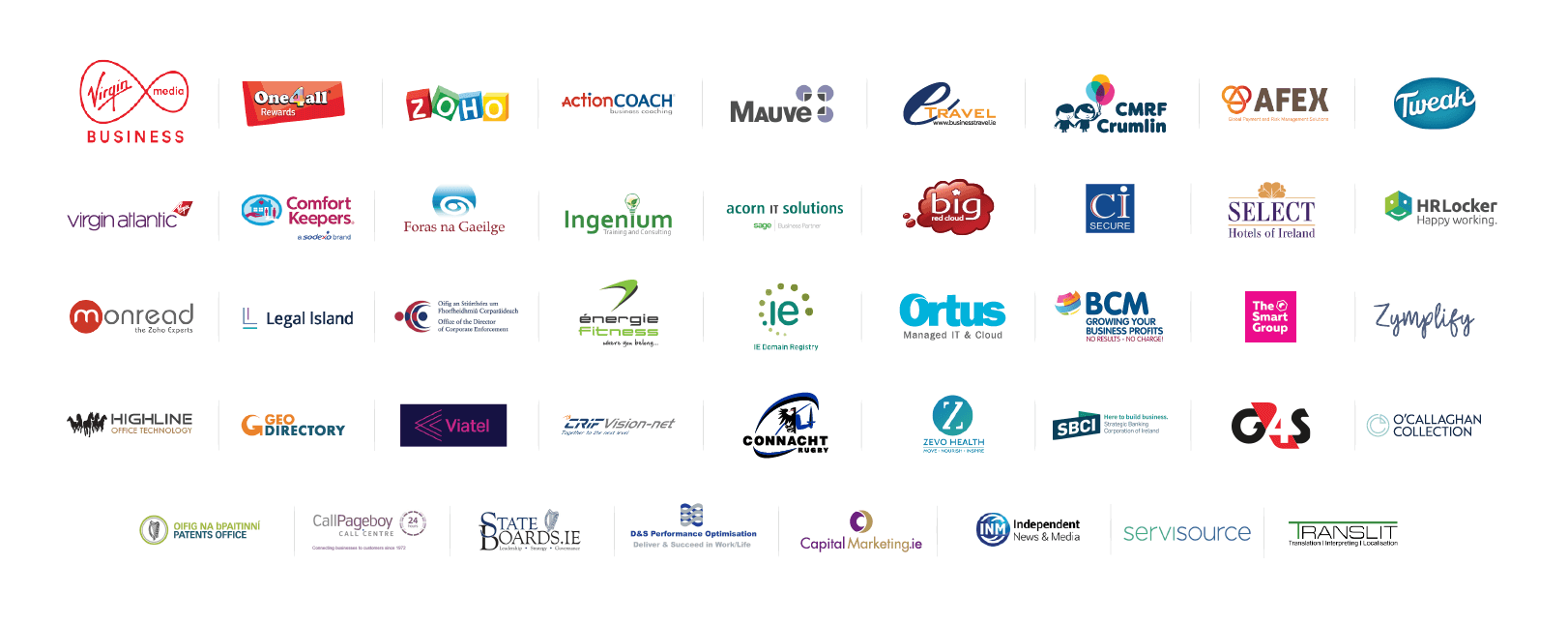 All Ireland Summit 2019 Exhibitors